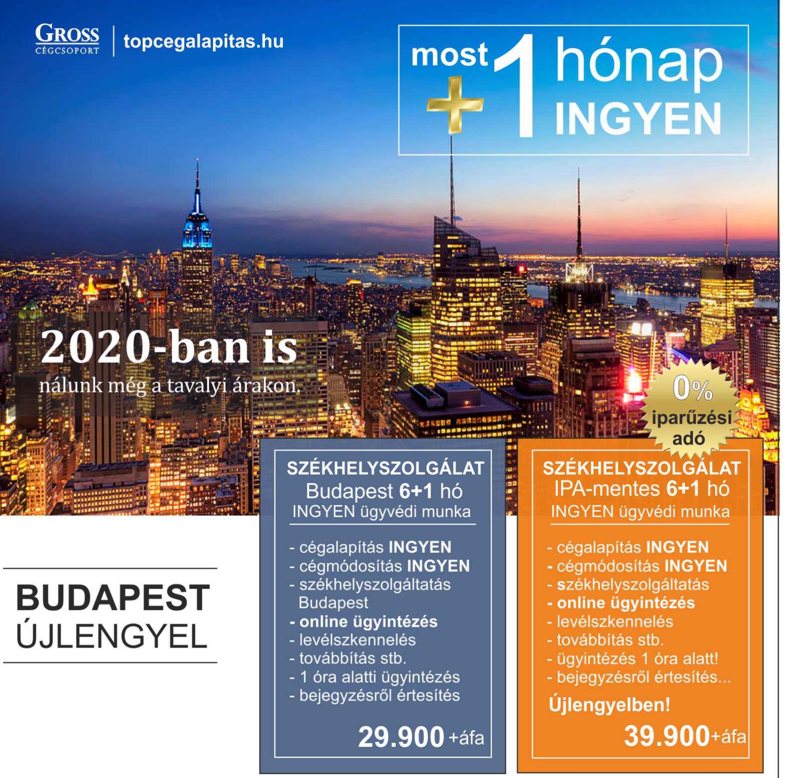 budapest székhelyszolgáltatás